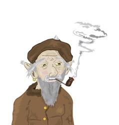 Man smoking vector