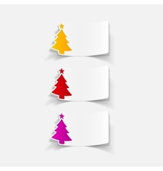Realistic design element christmas tree vector