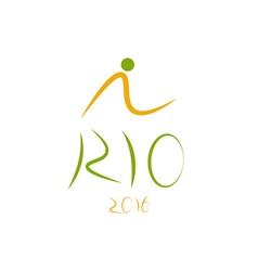 Rio de janeiro brazil 2016 olympic games design vector