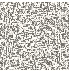 Seamless black and white coral organic line vector