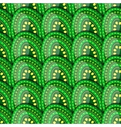 Seamless pattern of green eggs with peas vector