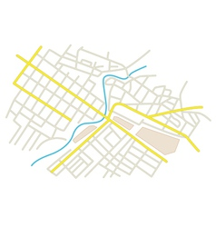 Streets on the city plan vector