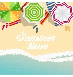 Summer Time Background Sunny Beach in Flat Design vector image vector image