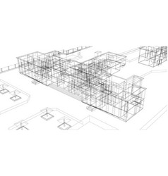 Wire-frame abstract archticture vector
