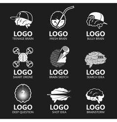 Set of brain sign set vector