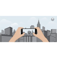 360 degree view in mobile urban scene vector