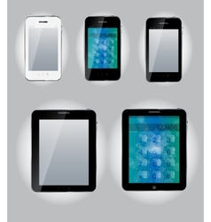 Tablet computer and mobile phone icons vector