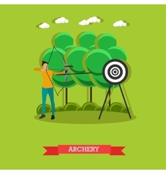 Sport shooting banner archery competition games vector