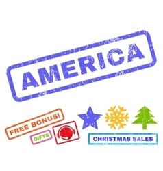 America rubber stamp vector