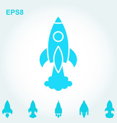 Space rocket icon or startup symbol vector