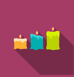 candles icon of for web and vector image