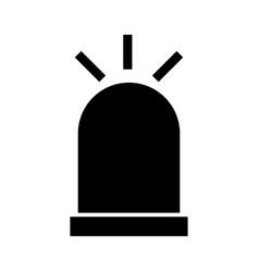 siren the black color icon vector image