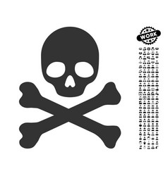 Death icon with work bonus vector