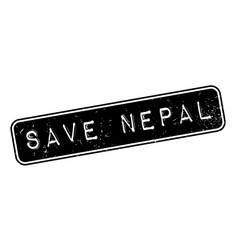 Save nepal rubber stamp vector