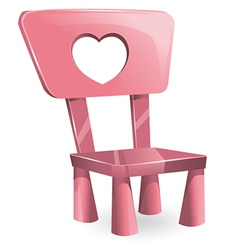 Pink chair vector