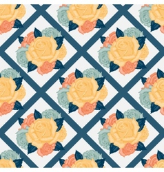 seamless flowers pattern with roses vector image