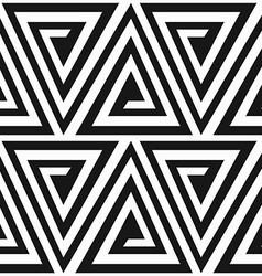 Monochrome ancient triangle spiral seamless vector