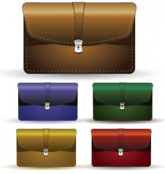 briefcase set vector image