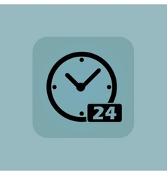 Pale blue 24 hours icon vector