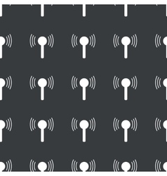 Straight black signal pattern vector