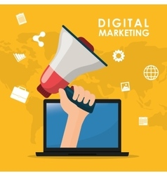 Digital marketing and advertising vector