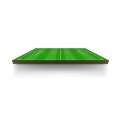 Green football field icon cartoon style vector