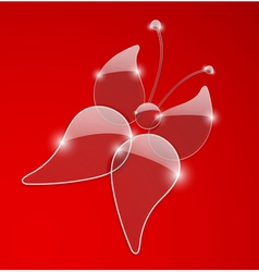 Glass butterfly vector image
