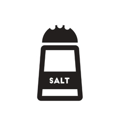 Black icon on white background salt shaker vector