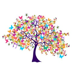Abstract spring time tree vector image vector image