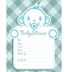 Blue Baby Boy Invitation vector image vector image