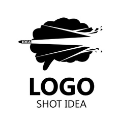 Brain logo silhouette design vector