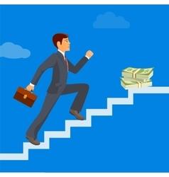 Business achievement businessman attains success vector image vector image