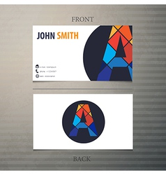 Business card template letter A vector image