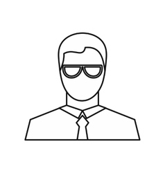 Businessman icon outline style vector image vector image