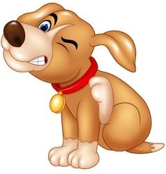 Cartoon dog scratching an itch vector