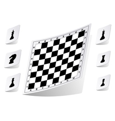 Chessboard stickers set vector