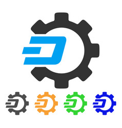 Dash process gear icon vector