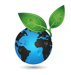 Earth green planet concept vector