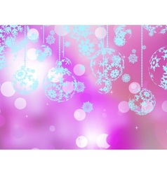 Elegant pink christmas background eps 10 vector