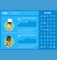 Food infographic template elements and icons vector