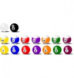 game balls vector image vector image