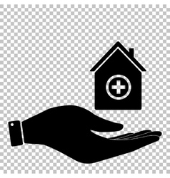 Hospital sign flat style icon vector