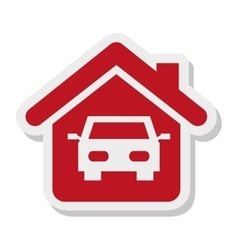 House property isolated icon vector