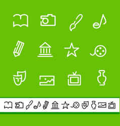 Icons of arts vector
