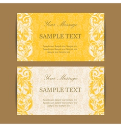Invitation cards set vector