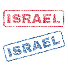 Israel textile stamps vector