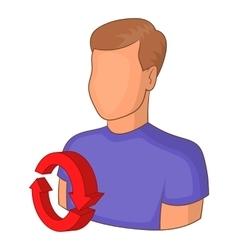 Job interview icon cartoon style vector