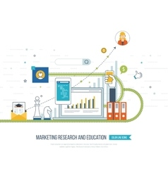 Market strategy analysis marketing research vector