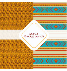 Maya culture background vector