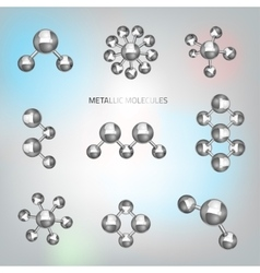 Metallic molecular objects vector image